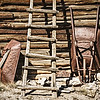 Wheelbarrows and Ladder, El Rancho de la Golondrinas, Los Pinos Road, Santa Fe, New Mexico