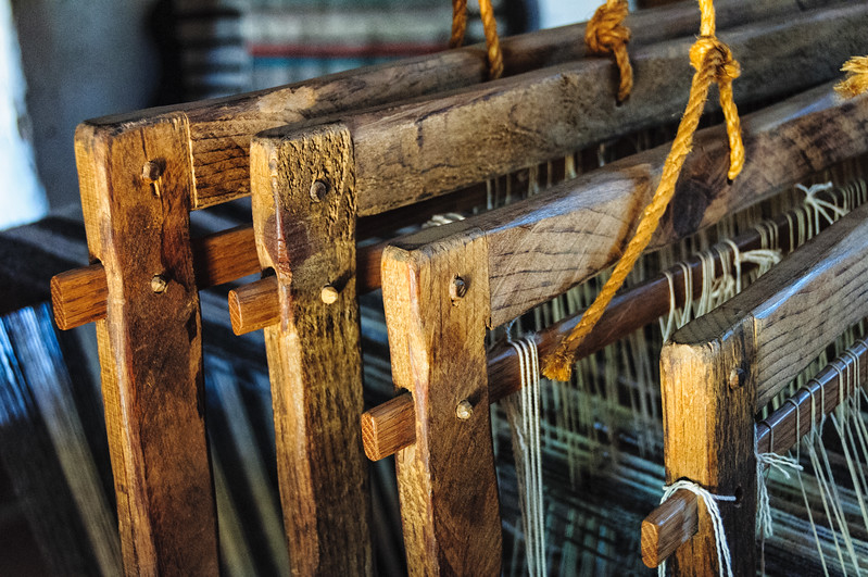 Replica of 400 year old Loom, El Rancho de la Golondrinas, Los Pinos Road, Santa Fe, New Mexico