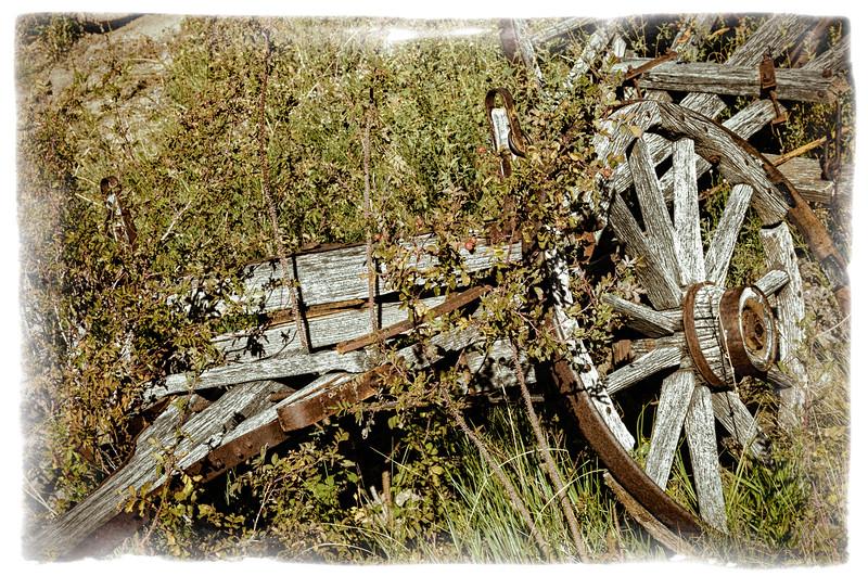 Abandoned Wagon, El Rancho de la Golondrinas, New Mexico