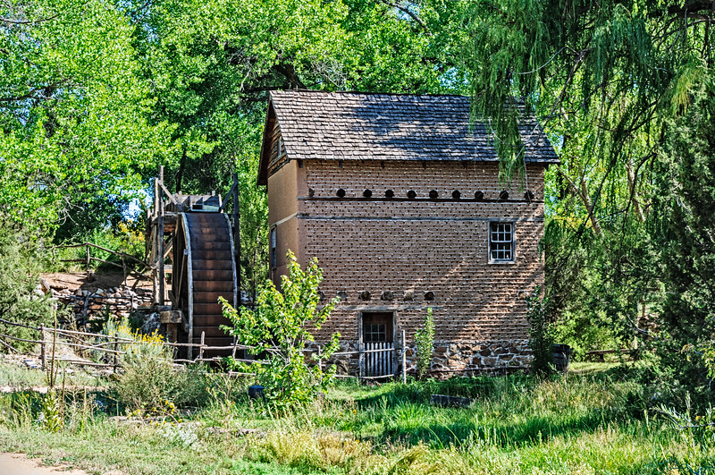 The Big Mill from Sapello, El Rancho de la Golondrinas, Los Pinos Road, Santa Fe, New Mexico