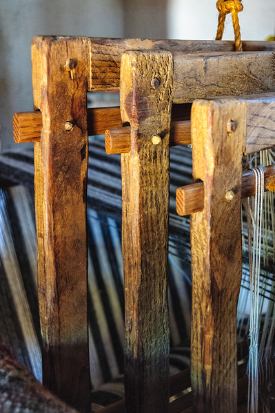 Replica of 400 year old Loom, El Rancho de la Golondrinas, Los Pinos Road, Santa Fe, New Mexico