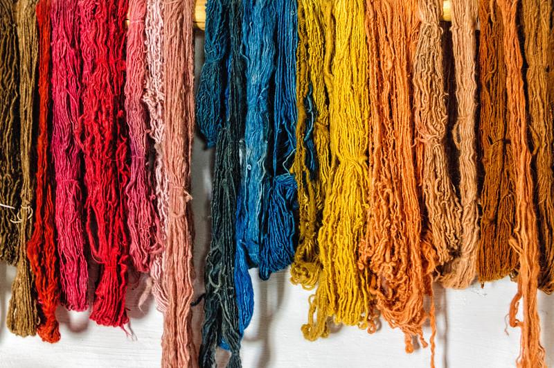 Dyed Wool in Weaving Room, El Rancho de la Golondrinas, New Mexico