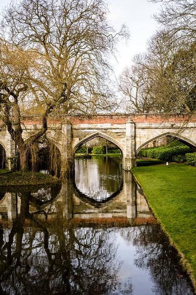 Moat bridge built by Edward IV, Eltham Palace, London, England