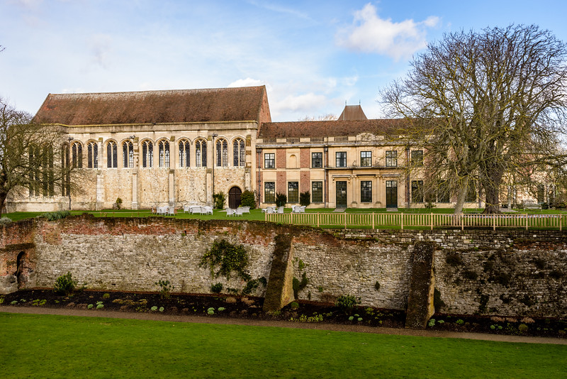 South Lawn and Southern Moat, Eltham Palace, London, England