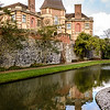 Moat and gardens, Eltham Palace, London, England