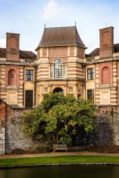 Moat and gardens, Eltham Palace, London, England