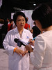 Enspri spokesperson, Sue, being interviewed by the media.