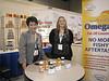 Kintech USA trade show exhibit, with Kristi, promoting Omega 3 fish oil.