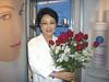 Sue's favorite flower, the rose.