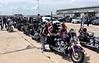 Motorcade & Patriot Riders arrive at Lambert Airport, St. Louis, Missouri.