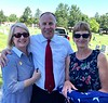 Diane with Steve Rogier, pastor of Community Bible Church in Swansea, IL, and his wife, Monique.