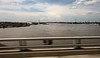 Crossing the swollen Mississippi River into Missouri.