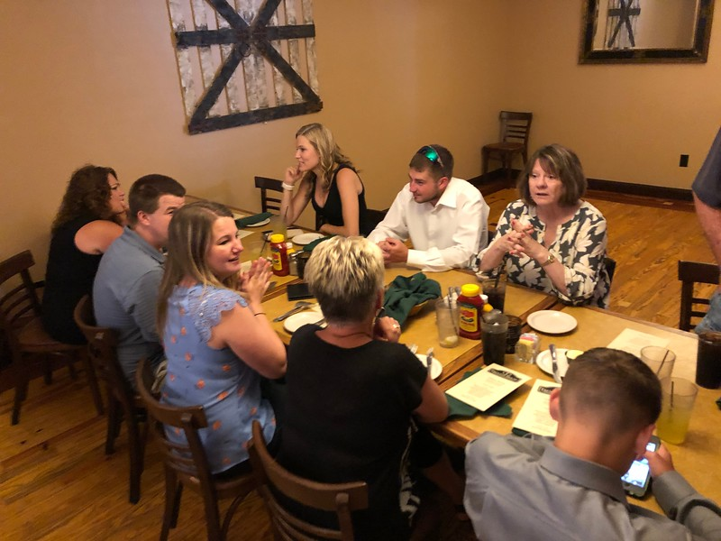 Gather of relatives and friends of Uncle Billy<br /> Trenton House Restaurant<br /> Trenton, Illinois