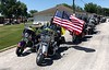 Freedom Riders motorcade, in Breese, Illinois, prepared to cycle to Lambert Airport, St. Louis, MO, to pick up William Klasing's remains.<br /> June 28, 2019