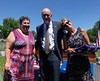 Linda and Diane with David Klasing, one of the DNA donors.<br /> Trenton Cemetery, Illinois