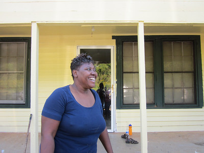 10 10-09  Ivy Nunn is happy that people from local congregations are coming to help repair her house. ky