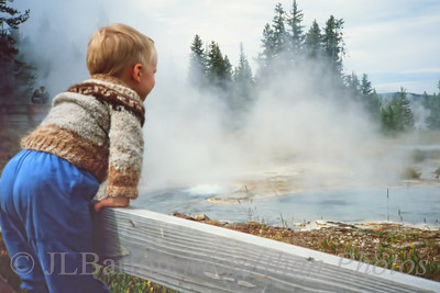 Yellowstone 1986 2010-09-11  I recently uncovered a cache of old slides and had them digitized - and have started a family gallery of embarassing baby shots to send to our sons.  (or maybe better to their wives).  Here is Edward, thrilled by the steam and colors - his first study in college was geology.  The picture is slightly fussy from the cleaning process, but still has great quality IMO.  Thanks again for all the comments on my Vienna picture from yesterday.