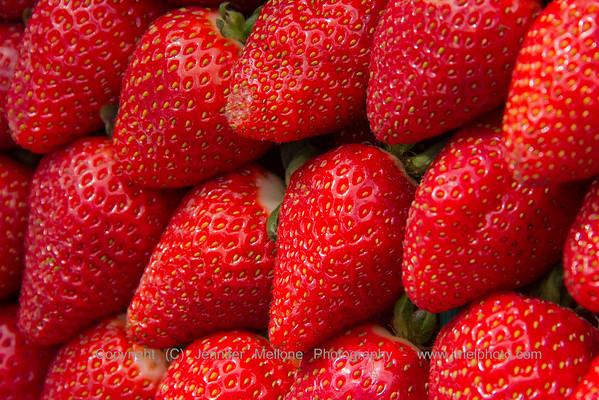 Strawberries at Farmers Market