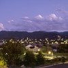 View toward downtown Ashland in early evening