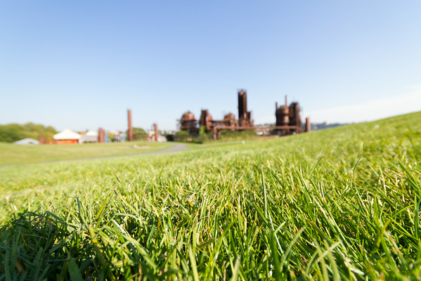 Gasworks Park - Fun With Ultra-Wide-Angle Lens