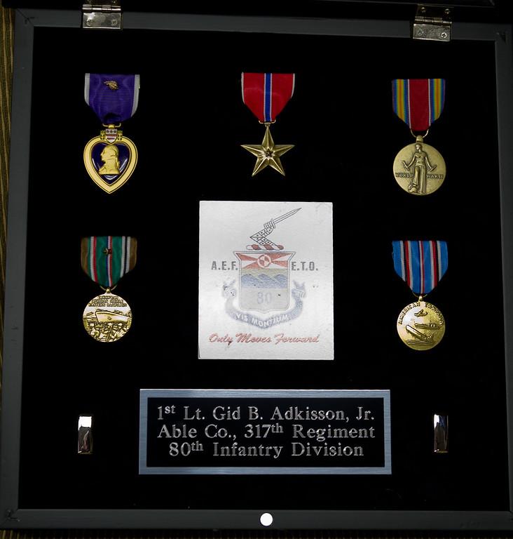 Gid B. Adkisson, Jr.  Metal Presentation  5-13-2011