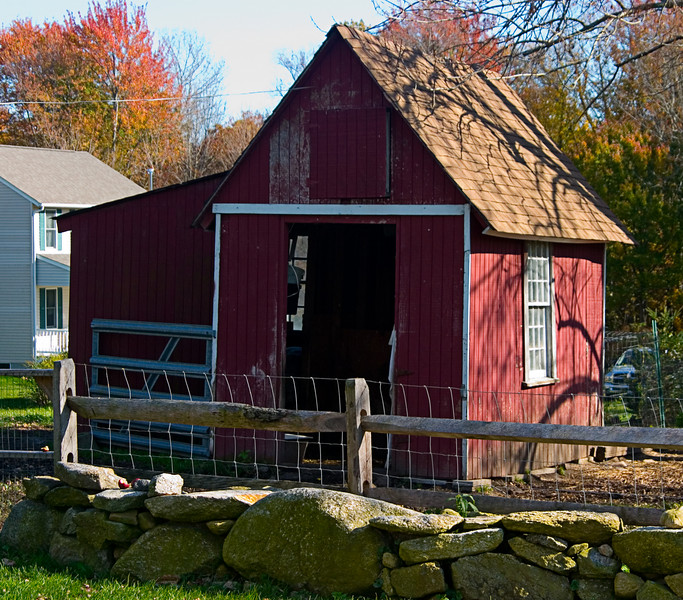 <center>Small Shed<br><br>Glocester, Rhode Island<br><br>It looks like this shed was the oldest building on the property.</center>