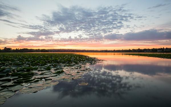 Green Lake Wide Angle Sunrise