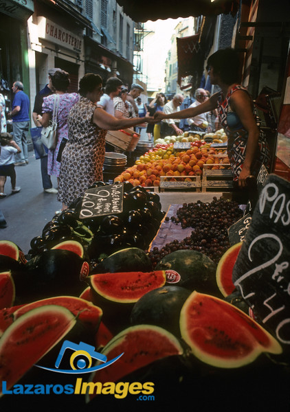Vieux Nice, France<br /> Street Market