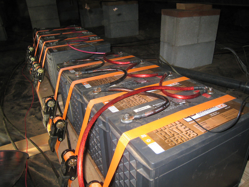 Battery bank under the house.