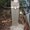 Base of 50ft fiberglass mast with lightening protector.