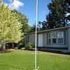 Temporary PVC pipe mount for center of dipole