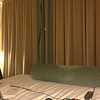 Operating mobile in a hotel room in Austin, TX.  Note the antenna hanging from the curtains.