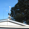 stand-off to keep end of G5RV away from roof and weather station