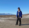 Kevin standing in Badwater Basin, Death Valley, California, lowest point in North America.