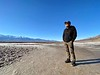 Rick standing in Badwater Basin, Death Valley, California, lowest point in North America.