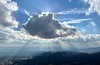 Cloud formations from the summit of Potato Mountain; Elevation 3,340ft.<br /> January 24, 2021