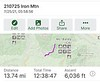 Iron Mountain route.  This hike is demanding, both ascending & descending due to extreme elevation gain.  It's doubly demanding in the summer heat!  A minimum of 4 liters of water is advised.<br /> July 25, 2021