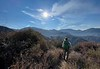 First glimpse of Baldy West summit<br /> Iron Mountain Trail<br /> July 25, 2021