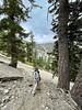 Craig ascending Baldy Bowl Trail<br /> July 18, 2021