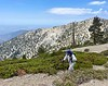 Craig approaching Baldy West, from Mt. Baldy<br /> July 18, 2021