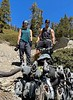 Jaime & Jen, with Hellcat engine wreckage<br /> Off Baldy Bowl Trail<br /> April 18, 2021