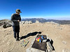 Gene paying respects to his father, who, at age 80, hiked to Baldy summit in 2019.<br /> October 17, 2021