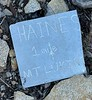 Strange sign by the trail<br /> Ascending Mt. Lukens.<br /> February 24, 2021