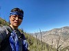 Kevin, ascending Stone Canyon Trail, up Mt. Lukens.<br /> February 24, 2021