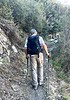 Rick Flores, hiking buddy.<br /> Ascending Stone Canyon Trail, up Mt. Lukens<br /> February 24, 2021