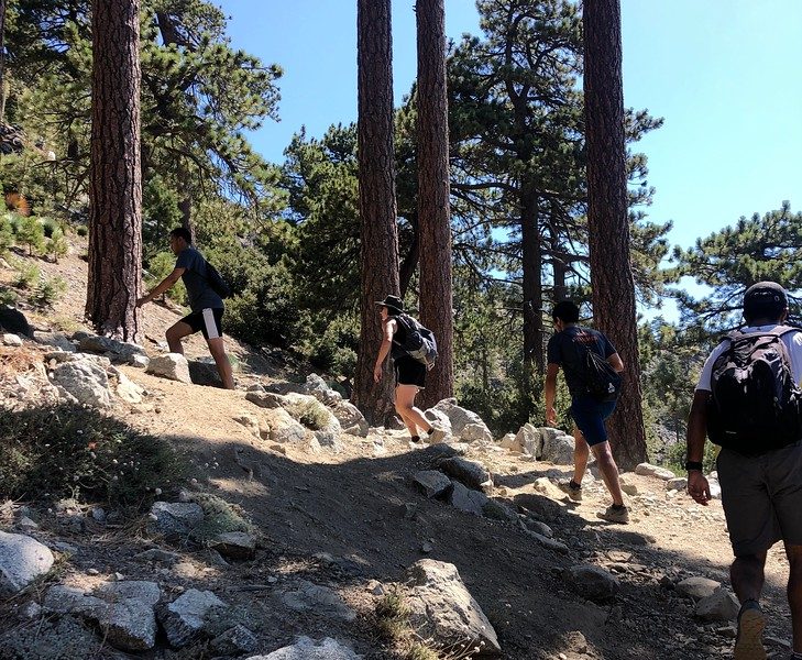 Ishan, Sayd, Achal & Anjal on the Ski Hut Trail<br /> August 25, 2019