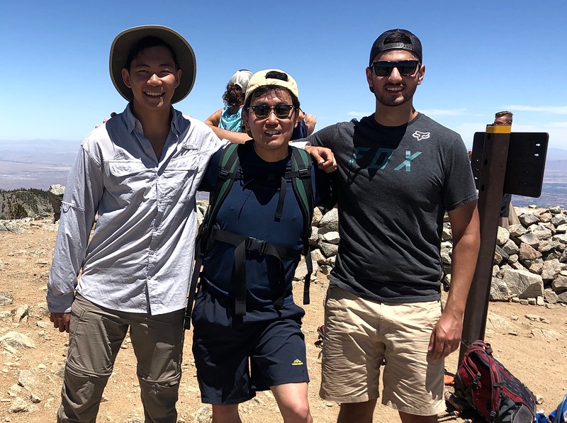 With Chris & Jeff, atop Baldy.<br /> July 21, 2019
