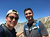 With Jeff, SpaceX intern (Stanford graduate school), on his first Baldy hike.