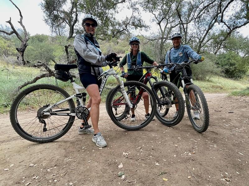 65 year young ladies, biking Telegraph Trail, Chino Hills<br /> April 21, 2021