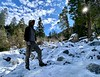 Craig, en route to Cucamonga Peak.<br /> November 12, 2020